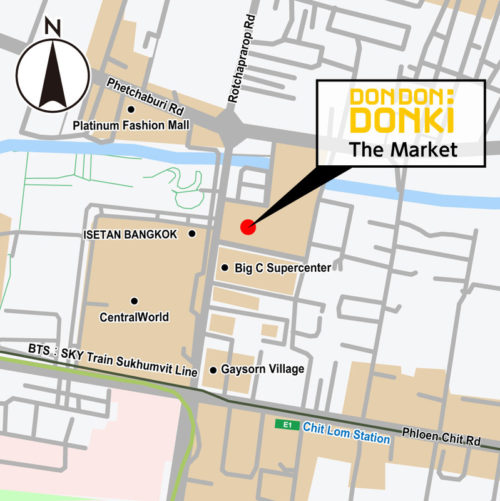 DON DON DONKI The Marketの地図