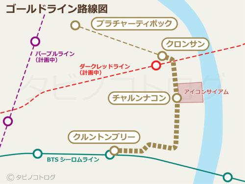ゴールドライン路線図