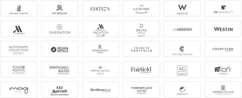 マリオットボンヴォイの全ブランド