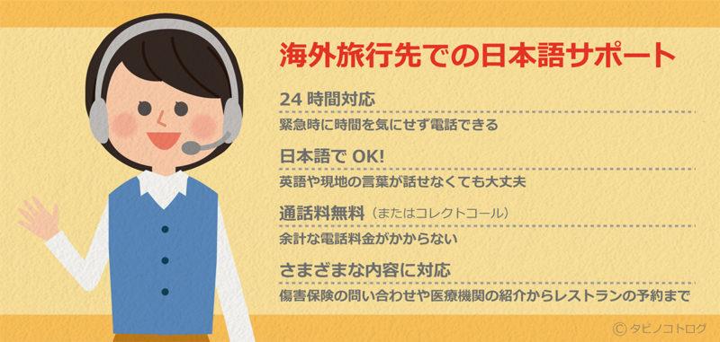 海外旅行先での日本語サポート