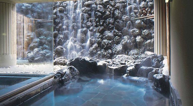 軽井沢マリオットの露天風呂