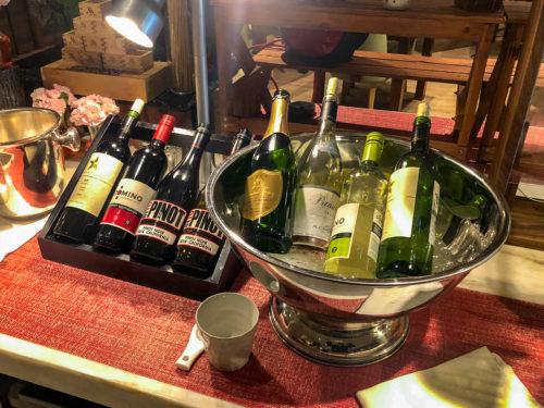 ラウンジのワイン類