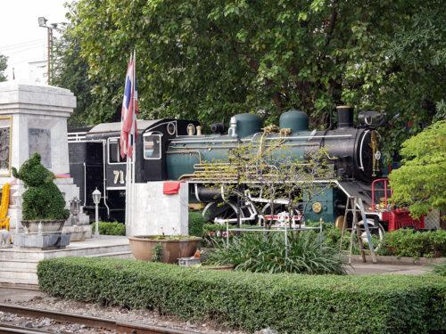 フアランポーン駅構内に保存されているSL